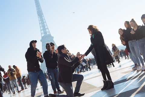marry me proposal trocadero paris