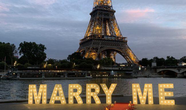 Marry me lettres géantes paris