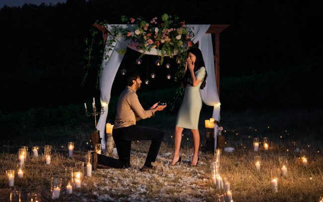 amazing proposal vineyard