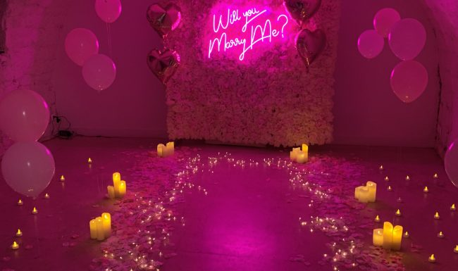 neon will you marry me