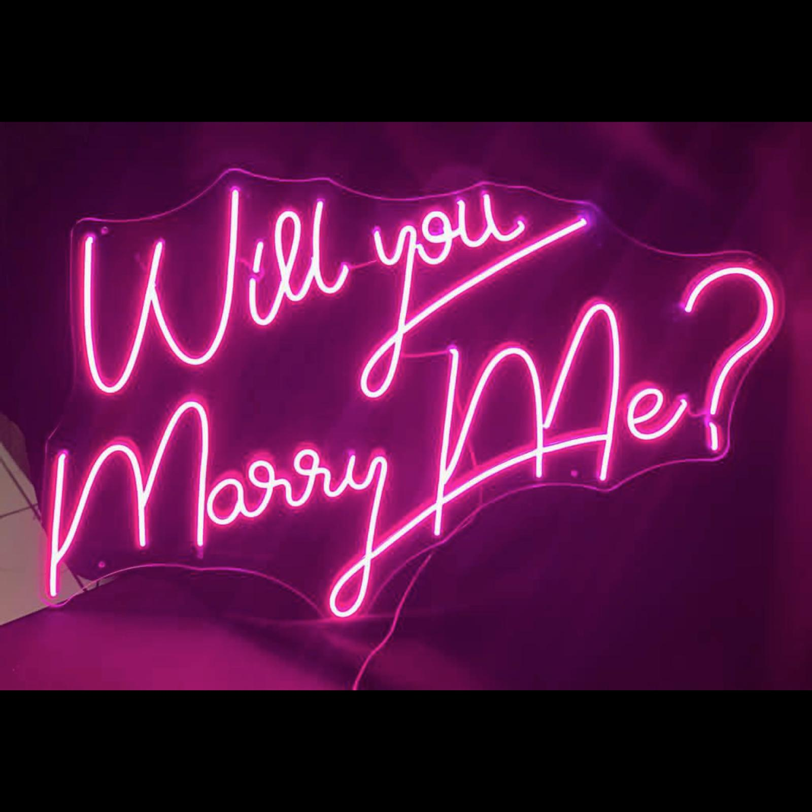 neon will you marry me paris