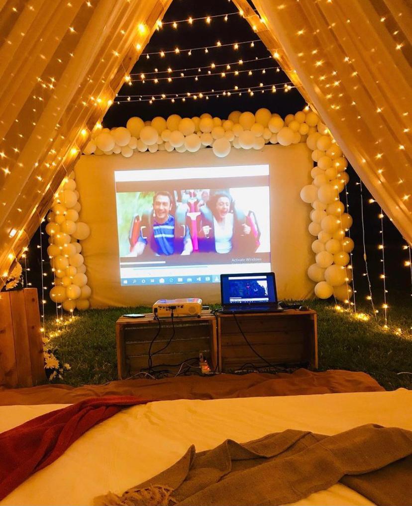 Cinéma romantique à la maison