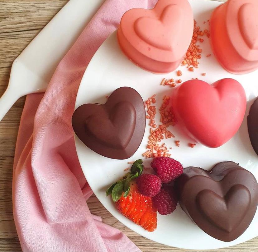Dessert en coeur Saint Valentin
