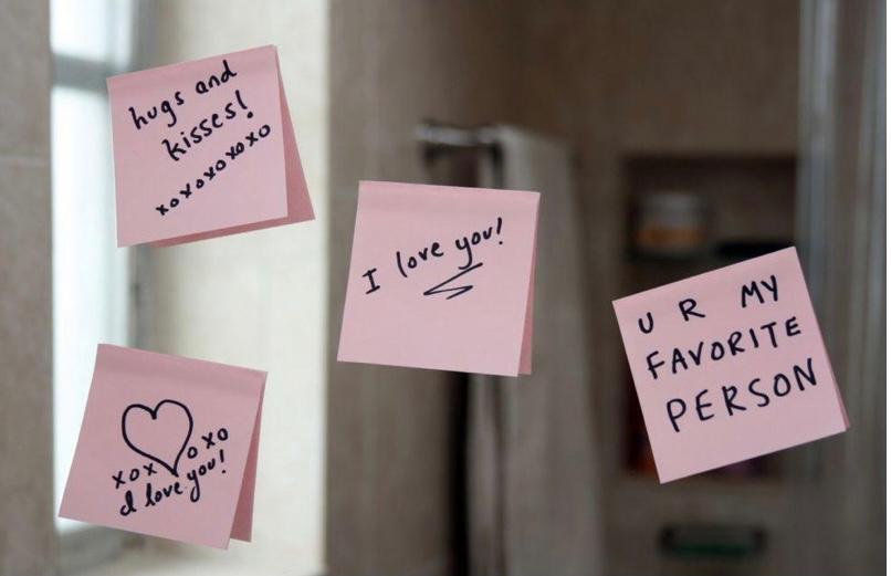 Post-it surprise Saint Valentin